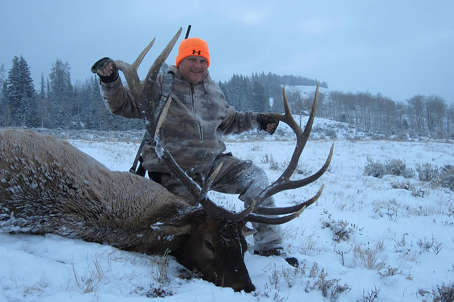 Elk Hunt Snow
